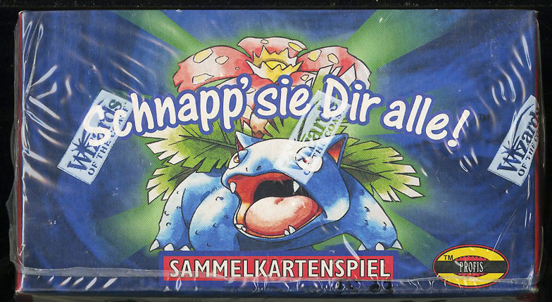 1999 Pokemon Base 1st Edition German Booster Box, Blue Wing Charizard Glurak? - Image 3