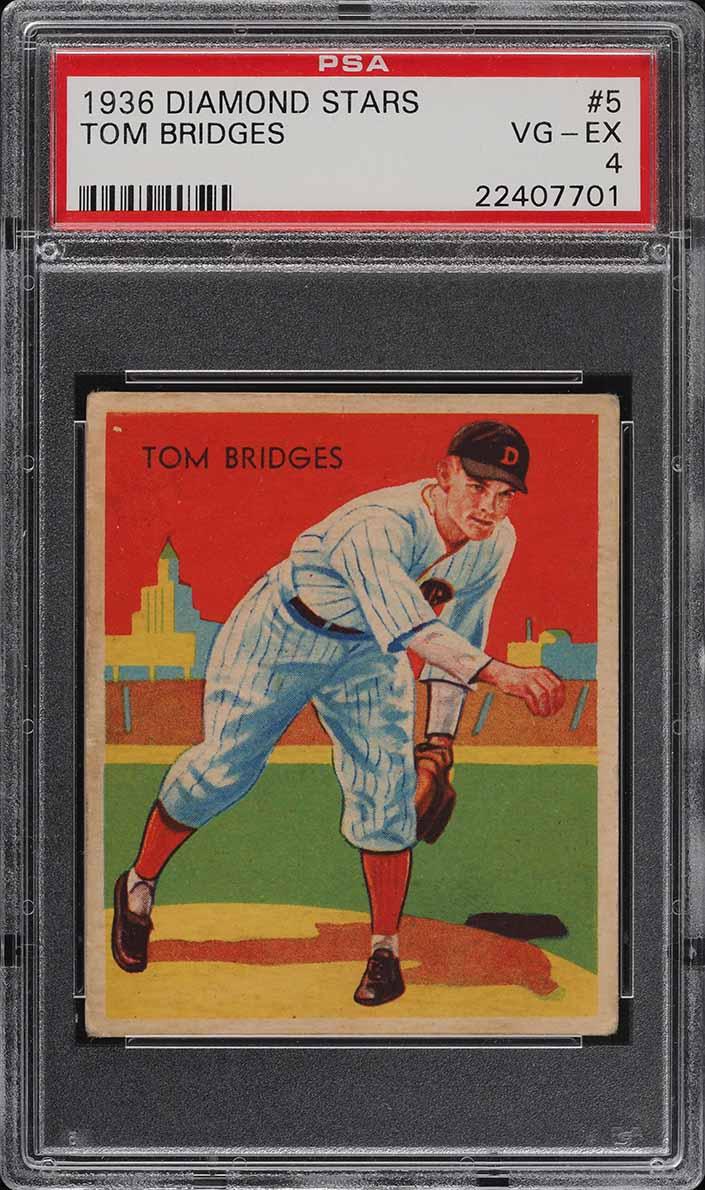 1936 Diamond Stars Tom Bridges #5 PSA 4 VGEX - Image 1