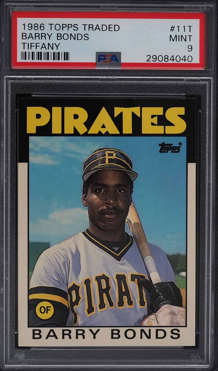 1986 Topps Traded Tiffany Barry Bonds ROOKIE RC #11T PSA 9 MINT - Image 1