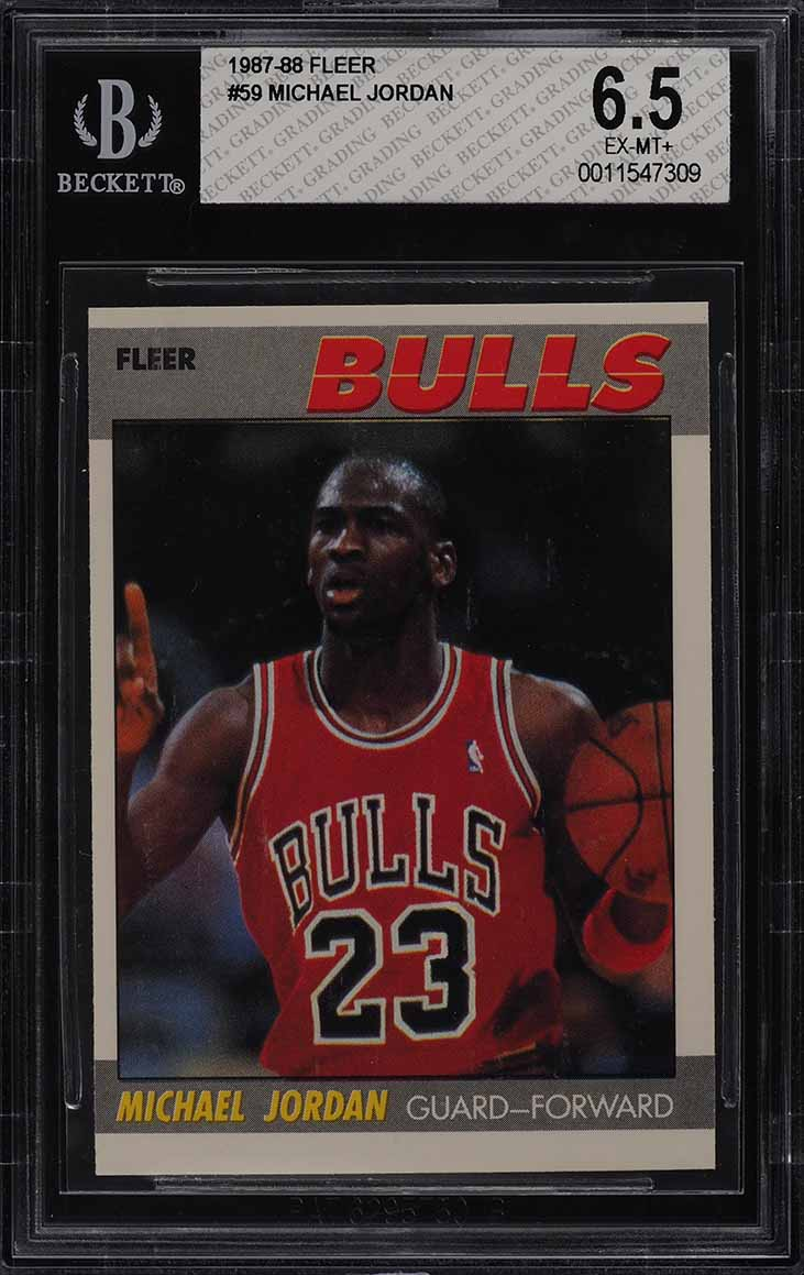 1987 Fleer Basketball Michael Jordan #59 BGS 6.5 EXMT+ (PWCC) - Image 1
