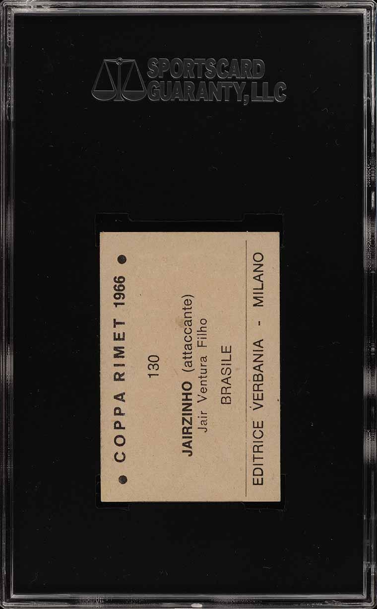 1966 Editrice Verbania Coppa Rimet Jairzinho ROOKIE RC #130 SGC 6 EXMT (PWCC) - Image 2