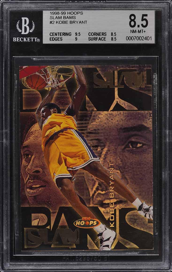 1998 Hoops Slam Bams Kobe Bryant 12/100 #2 BGS 8.5 NM-MT+ - Image 1