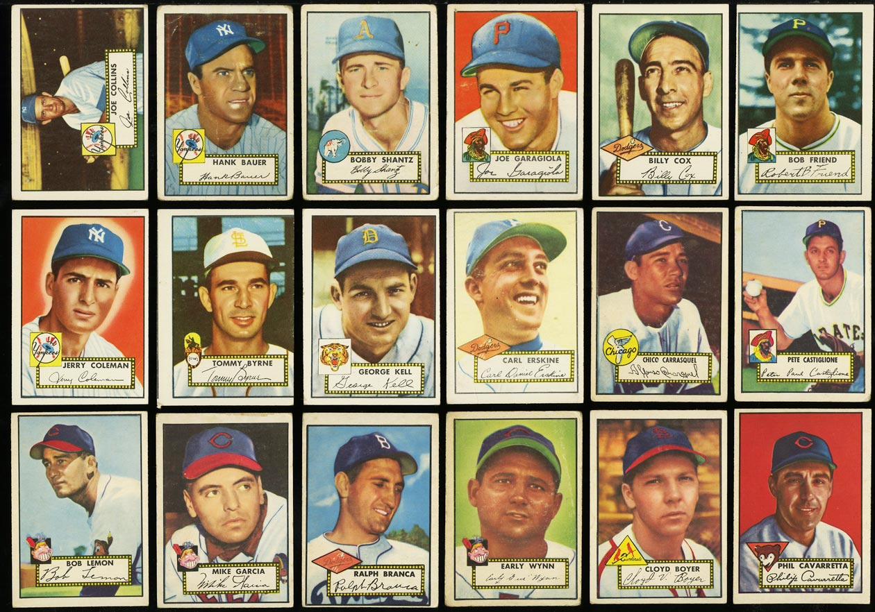 1952 Topps Lo-Mid Grd COMPLETE SET Mays Mathews Berra Robinson Mantle PSA (PWCC) - Image 11