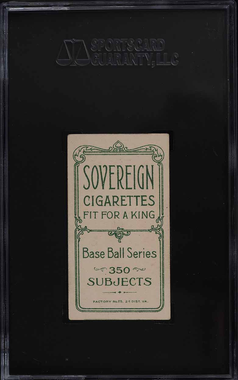1909-11 T206 Ed Abbaticchio BROWN SLEEVES, SOVEREIGN SGC 4 VGEX - Image 2