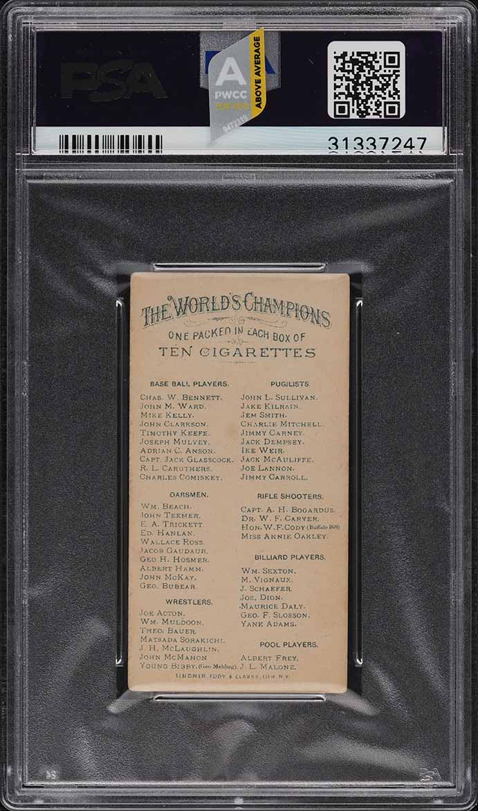1888 N28 Allen & Ginter Timothy Keefe PSA 5 EX (PWCC-A) - Image 2