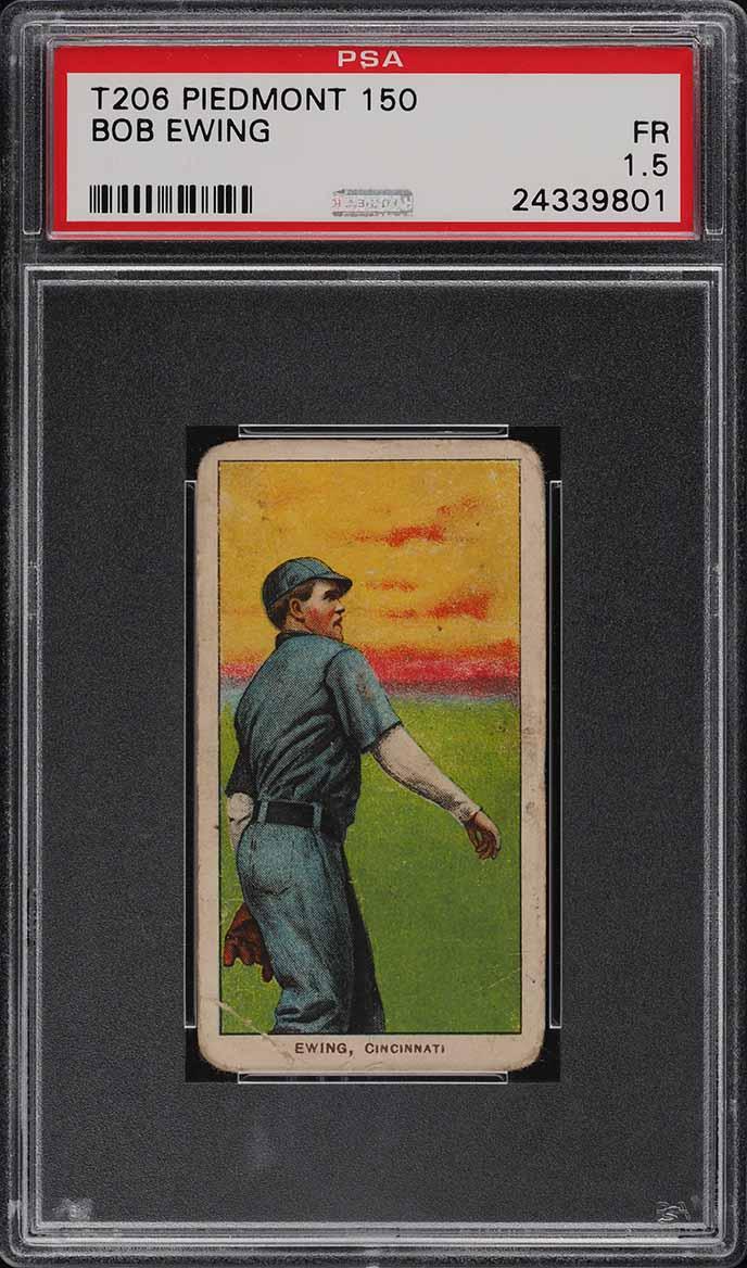 1909-11 T206 Bob Ewing PSA 1.5 PR (PWCC) - Image 1