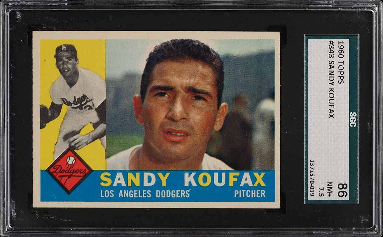 1960 Topps Sandy Koufax #343 SGC 7.5 NRMT+ - Image 1