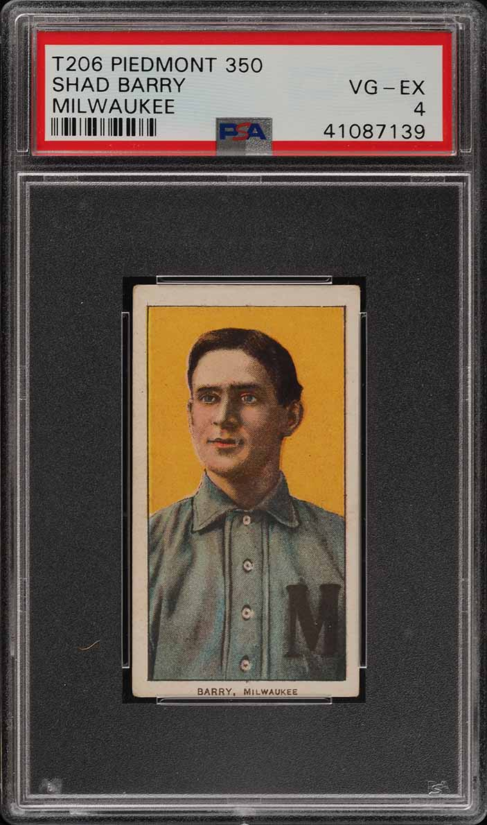 1909-11 T206 Shad Barry MILWAUKEE PSA 4 VGEX (PWCC) - Image 1