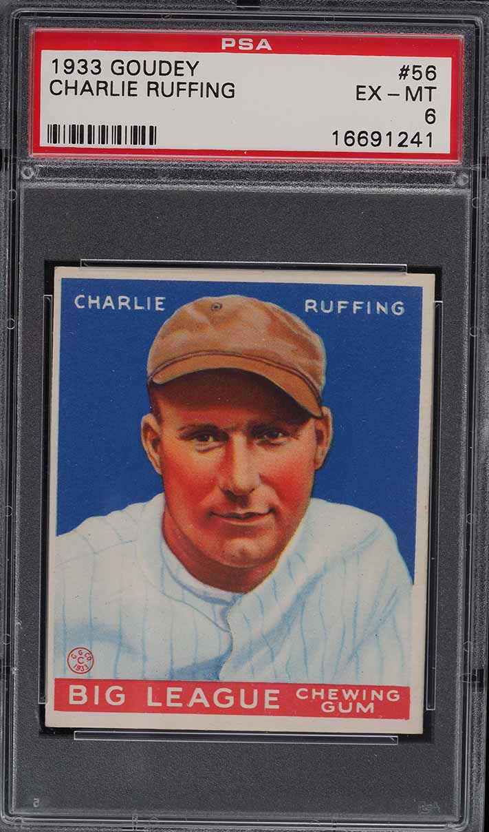 1933 Goudey Charlie Red Ruffing #56 PSA 6 EXMT - Image 1