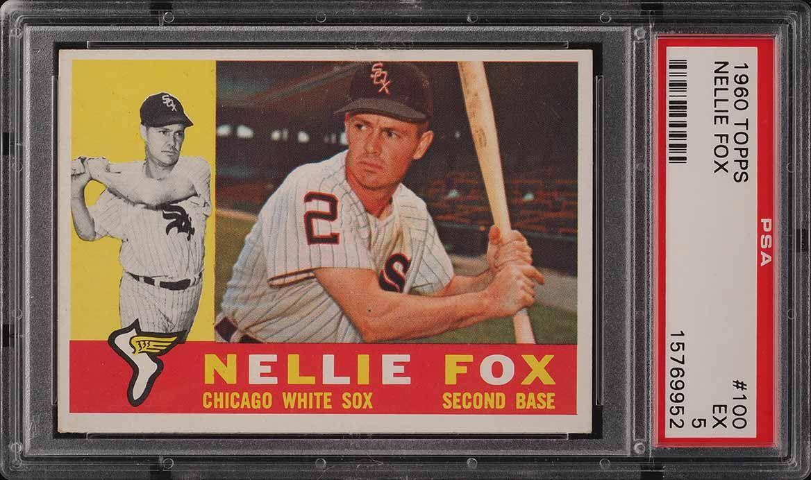 1960 Topps Nellie Fox #100 PSA 5 EX - Image 1