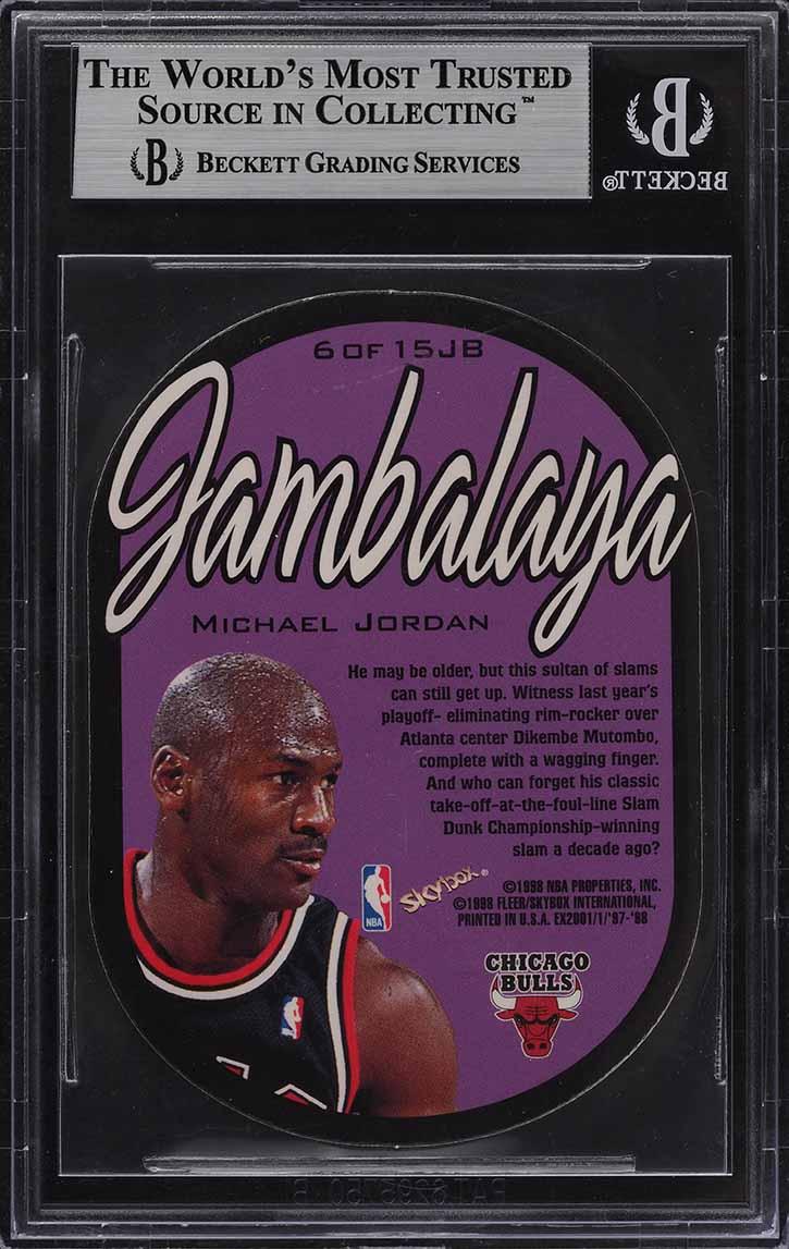 1997 E-X2001 Jambalaya Die-Cut Michael Jordan #6 BGS 9 MINT (PWCC) - Image 2