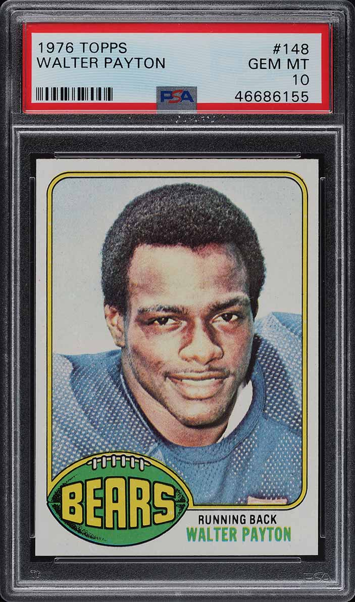 1976 Topps Football Walter Payton ROOKIE RC #148 PSA 10 GEM MINT (PWCC) - Image 1