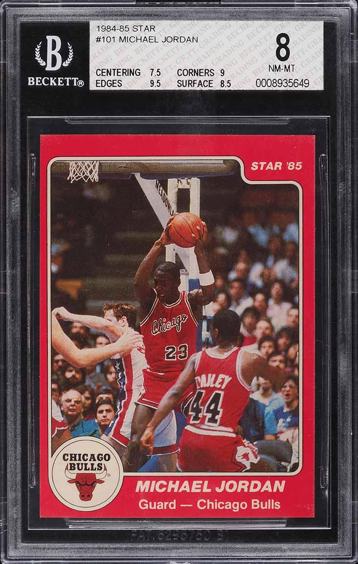 1984-85 Star Basketball Michael Jordan ROOKIE RC #101 BGS 8 NM-MT - Image 1