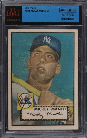 Image of: 1952 Topps Mickey Mantle #311 BVG Auth