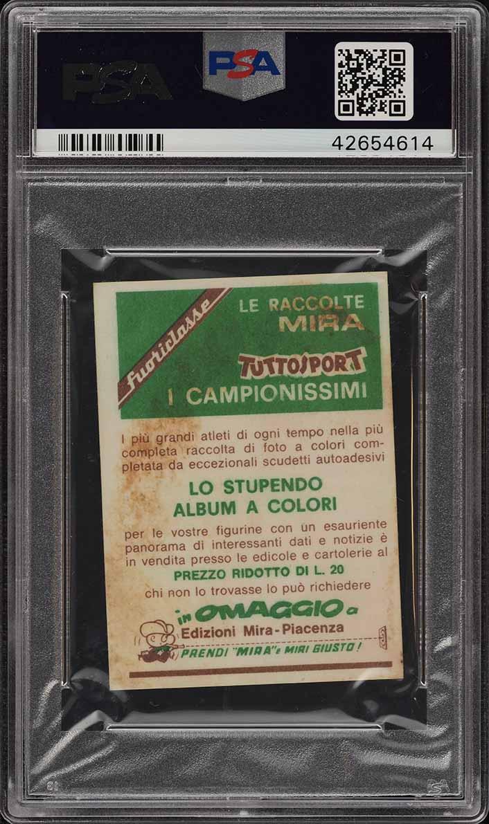 1968 Mira Tuttosport I Campionissimi Lew Alcindor ROOKIE RC #490 PSA 4 (PWCC) - Image 2