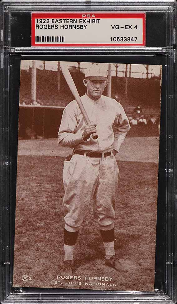 1922 Eastern Exhibit Rogers Hornsby PSA 4 VGEX - Image 1