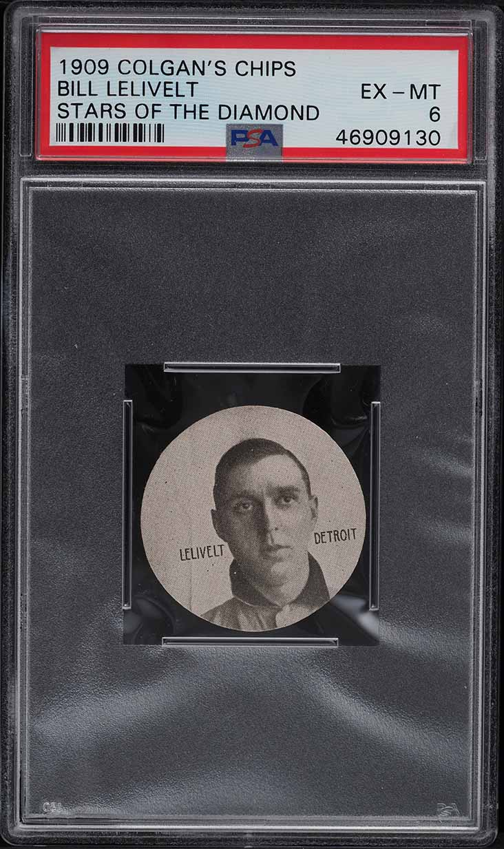 1909 Colgan's Chips Stars Of The Diamond Bill Lelivelt PSA 6 EXMT - Image 1