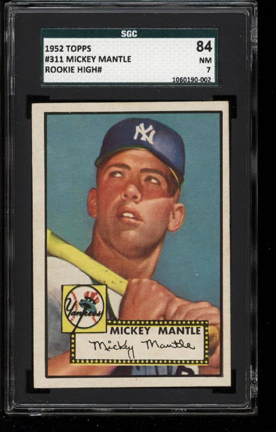 1952 Topps Mickey Mantle #311 SGC 7/84 NRMT (PWCC) - Image 1