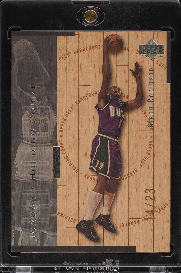 1998 UD Holding Court Silver Glenn Robinson Michael Jordan /23 #J15 (PWCC) - Image 1
