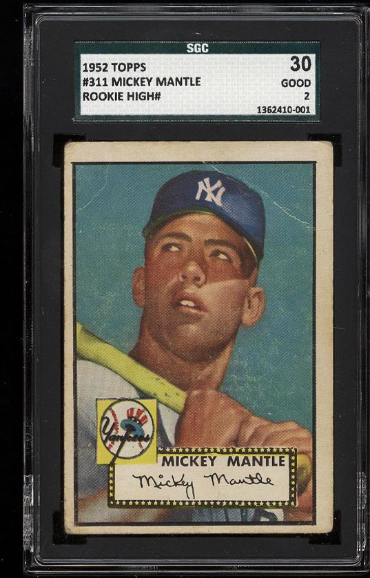 1952 Topps Mickey Mantle #311 SGC 2/30 GD (PWCC) - Image 1