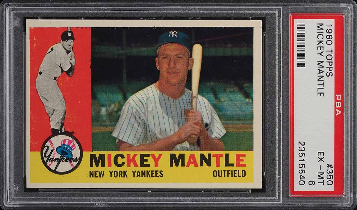 1960 Topps Mickey Mantle #350 PSA 6 EXMT - Image 1
