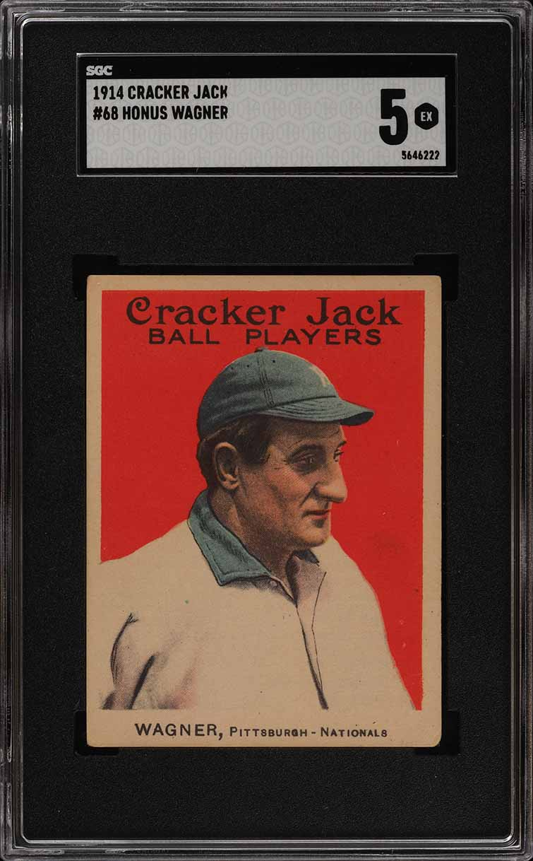 1914 Cracker Jack Honus Wagner #68 SGC 5 EX (PWCC) - Image 1