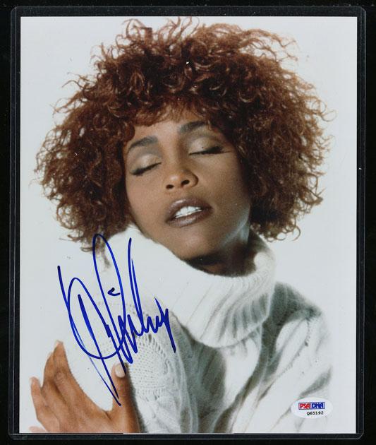Whitney Houston Signed Autographed 8x10 Photograph AUTO, PSA/DNA COA (PWCC) - Image 1