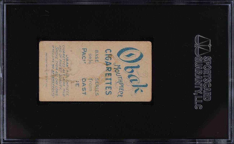 1909 T212 Oback Brown SGC 1 PR - Image 2