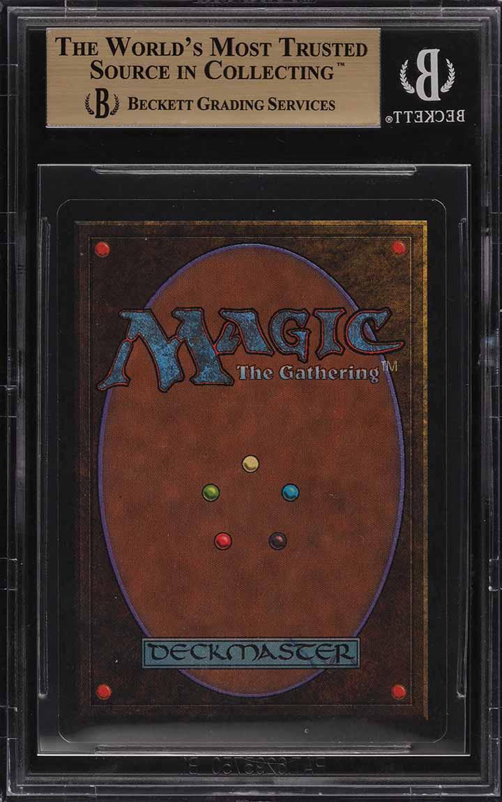 1993 Magic The Gathering MTG Unlimited Black Lotus R A BGS 9.5 GEM MINT (PWCC) - Image 2