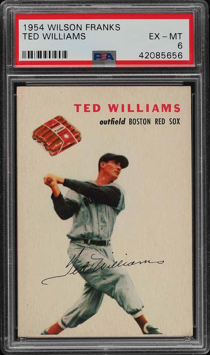 1954 Wilson Franks Ted Williams PSA 6 EXMT (PWCC-A) - Image 1