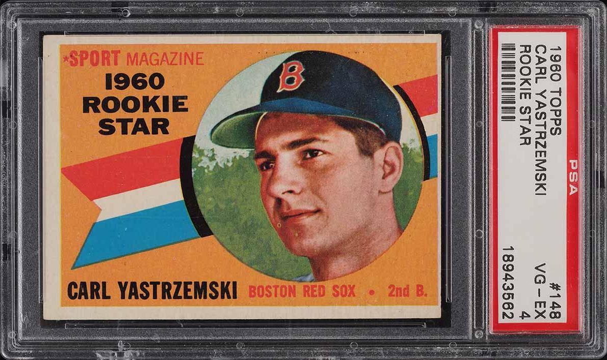 1960 Topps Carl Yastrzemski ROOKIE RC #148 PSA 4 VGEX - Image 1