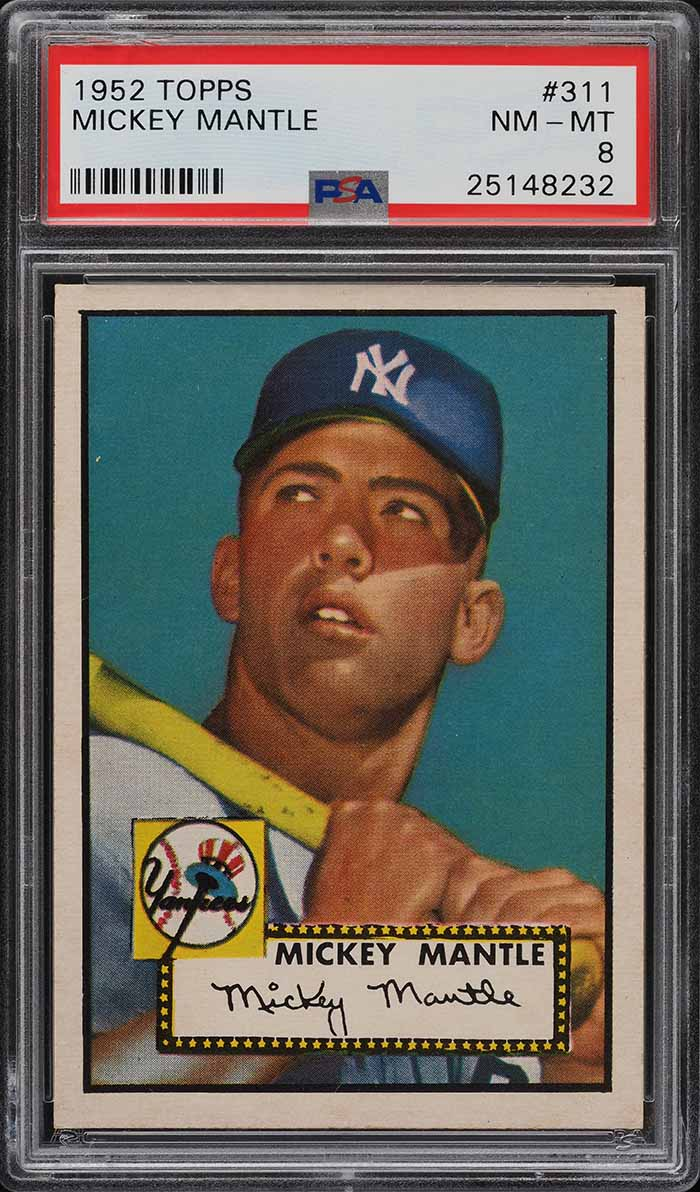 1952 Topps Mickey Mantle #311 PSA 8 NM-MT - Image 1
