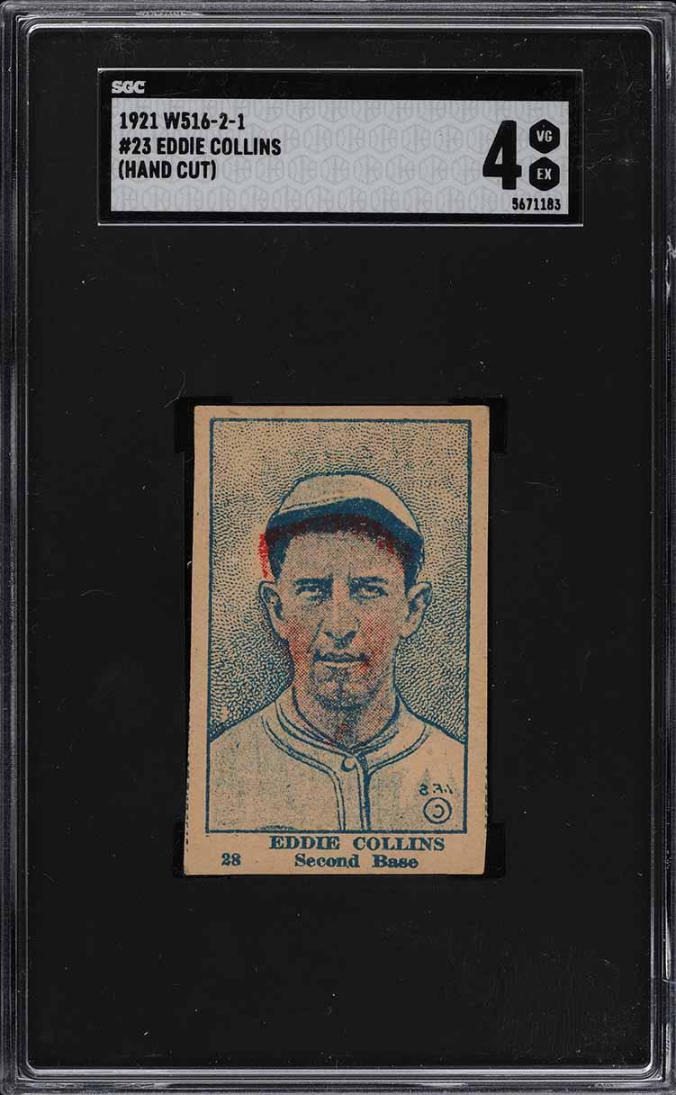 1921 W516-2-1 Strip Card Eddie Collins #23 SGC 4 VGEX (PWCC) - Image 1