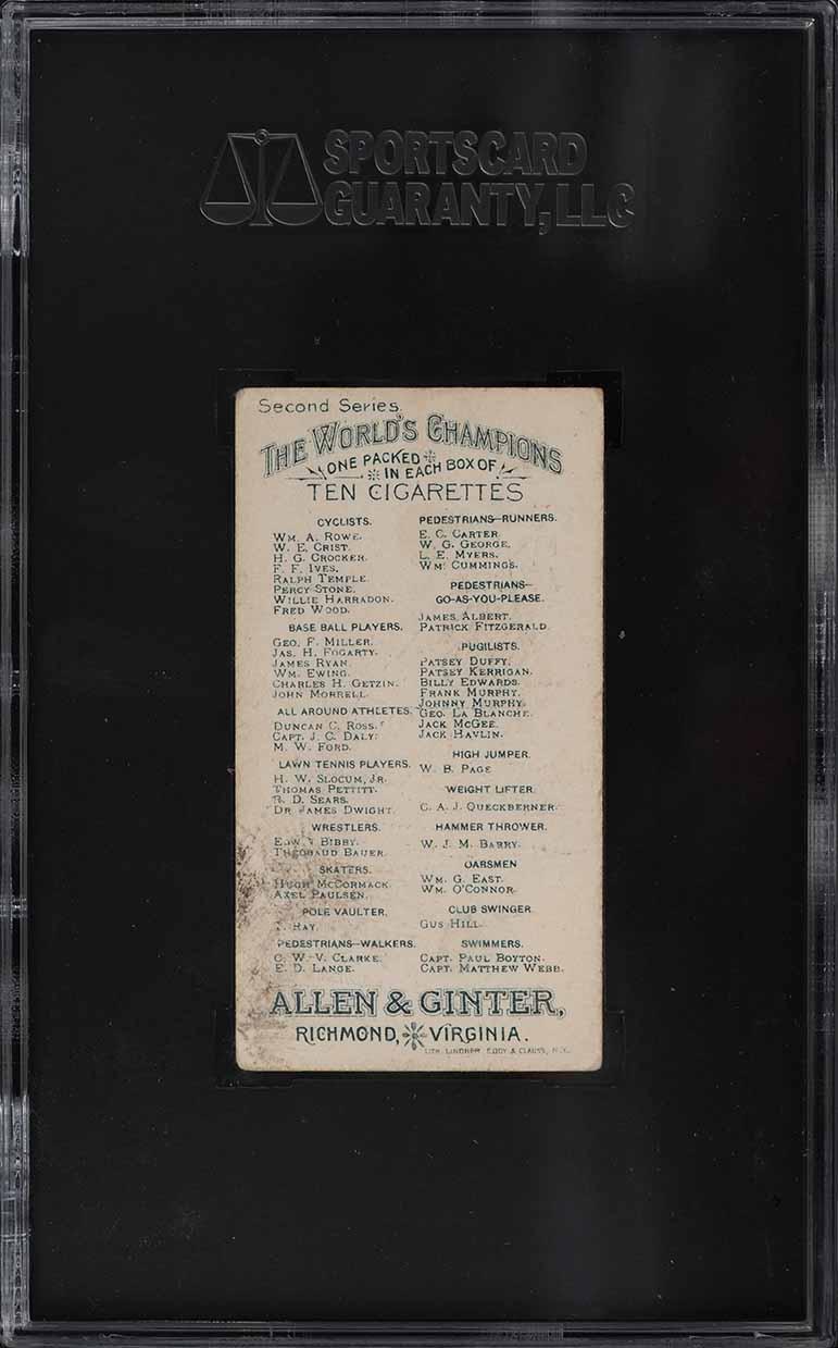 1888 N29 Allen & Ginter James Ryan SGC 3 VG - Image 2