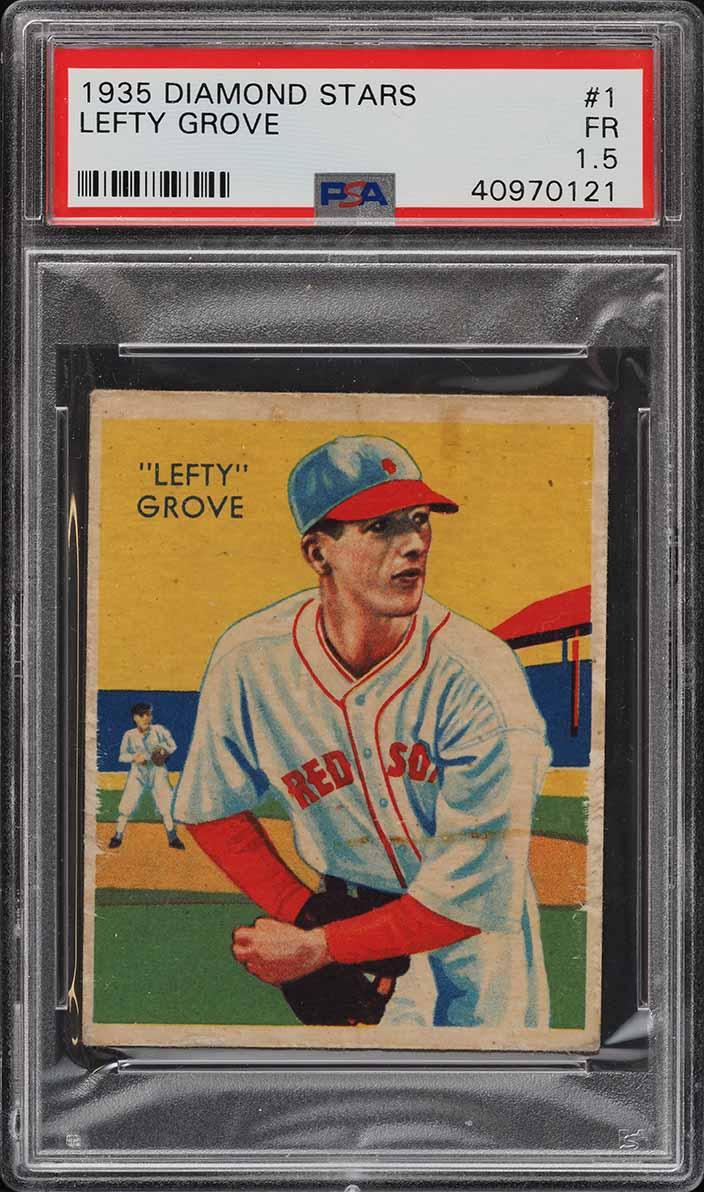 1935 Diamond Stars Lefty Grove #1 PSA 1.5 FR - Image 1