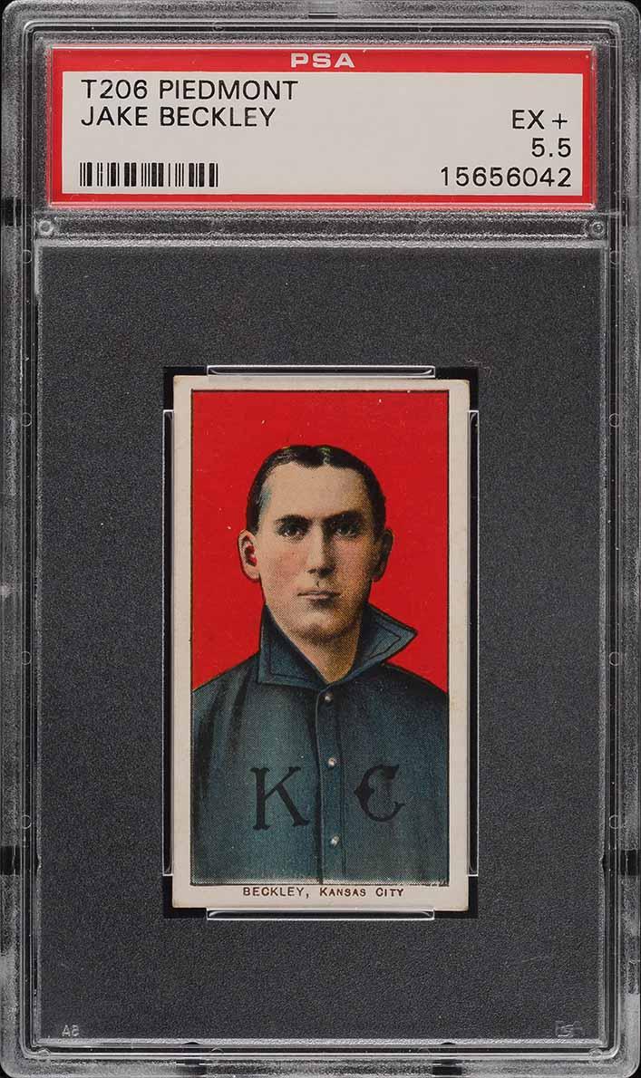 1909-11 T206 Jake Beckley PSA 5.5 EX+ - Image 1