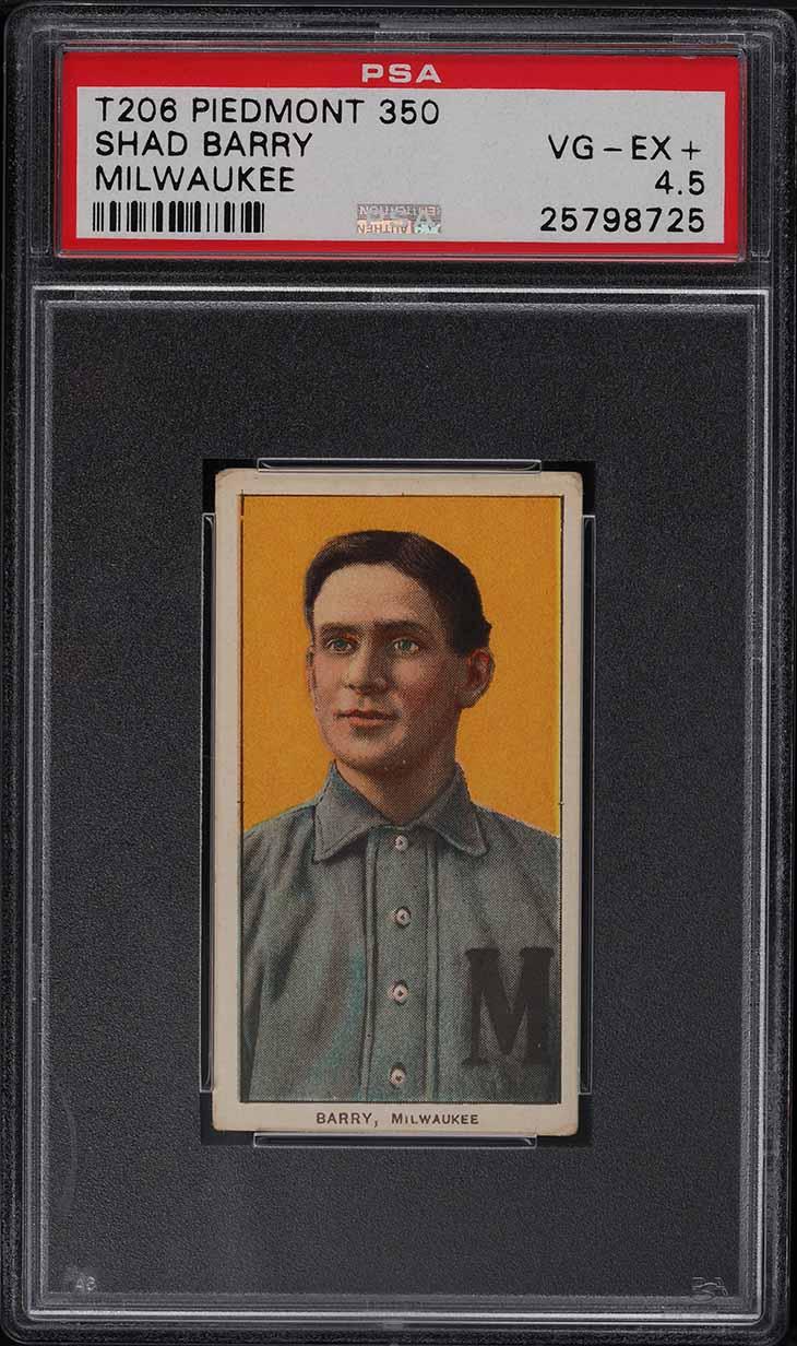1909-11 T206 Shad Barry MILWAUKEE PSA 4.5 VGEX+ - Image 1