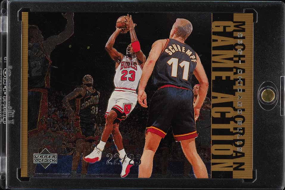 1998 Upper Deck MJ Living Legends Action Gold Michael Jordan 22/23 #G20 (PWCC) - Image 1