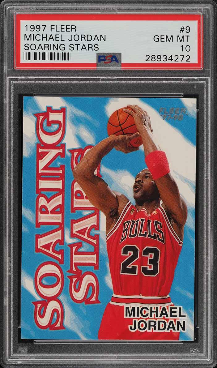 1997 Fleer Soaring Stars Michael Jordan #9 PSA 10 GEM MINT (PWCC) - Image 1