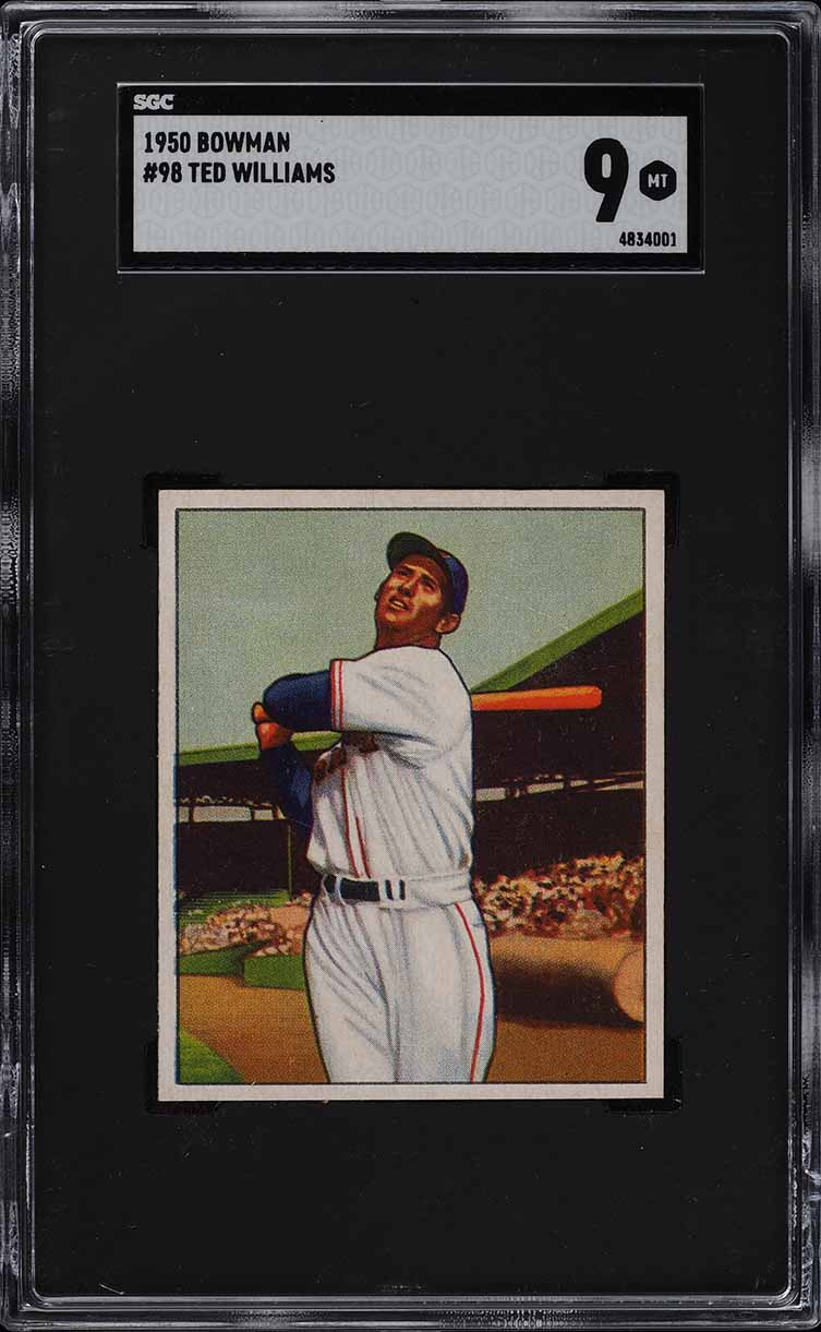 1950 Bowman Ted Williams #98 SGC 9 MINT (PWCC) - Image 1
