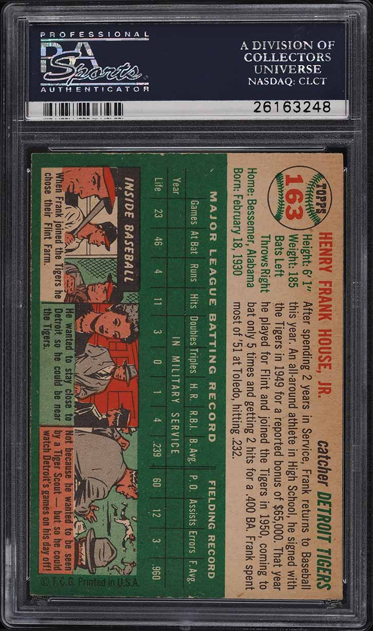 1954 Topps Frank House #163 PSA 8 NM-MT - Image 2