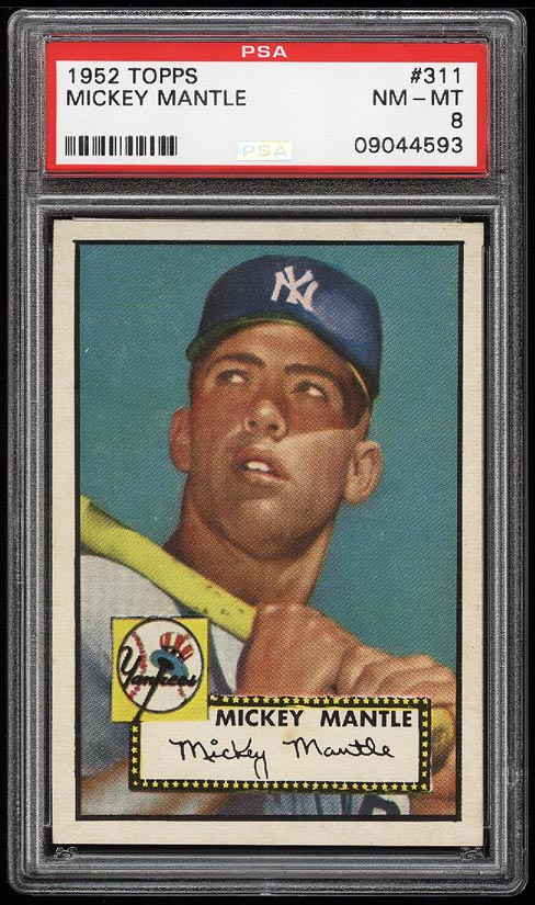 1952 Topps Mickey Mantle #311 PSA 8 NM-MT (PWCC) - Image 1