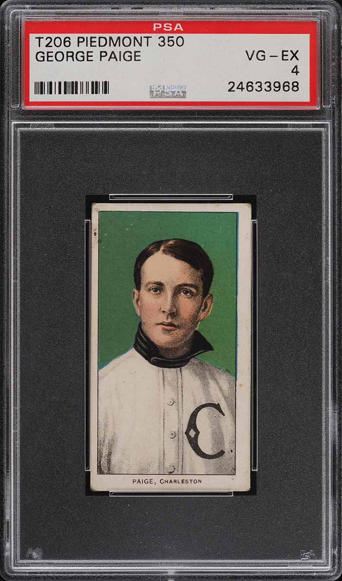 1909-11 T206 SETBREAK George Paige SOUTHERN LEAGUER PSA 4 VGEX (PWCC) - Image 1