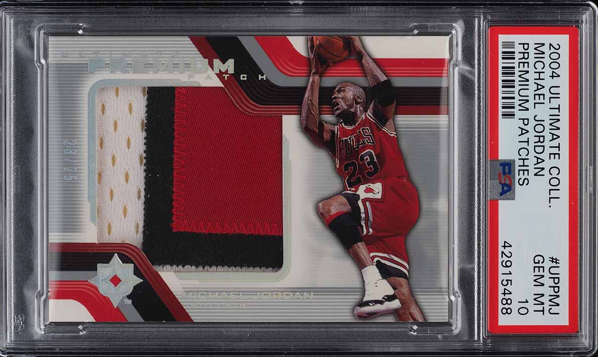 2004 Ultimate Collection Premium Michael Jordan PATCH JSY # 23/25 PSA 10 (PWCC) - Image 1