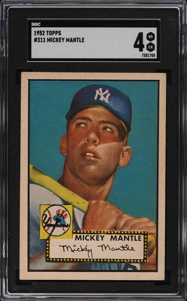 1952 Topps Mickey Mantle #311 SGC 4 VGEX (PWCC-S) - Image 1