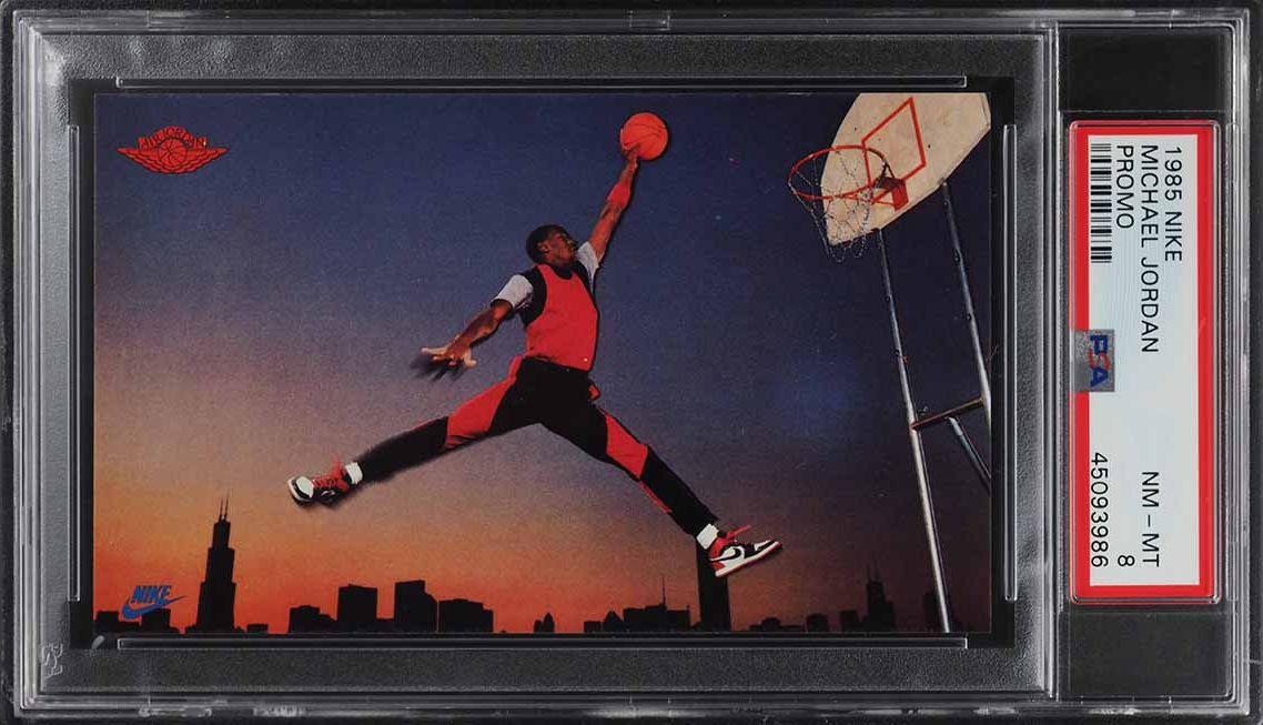 1985 Nike Promo Michael Jordan ROOKIE RC PSA 8 NM-MT (PWCC) - Image 1
