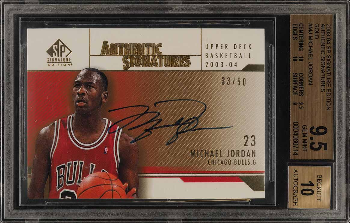 2003 SP Signature Edition Gold Michael Jordan AUTO /50 #MJ BGS 9.5 GEM MT (PWCC) - Image 1
