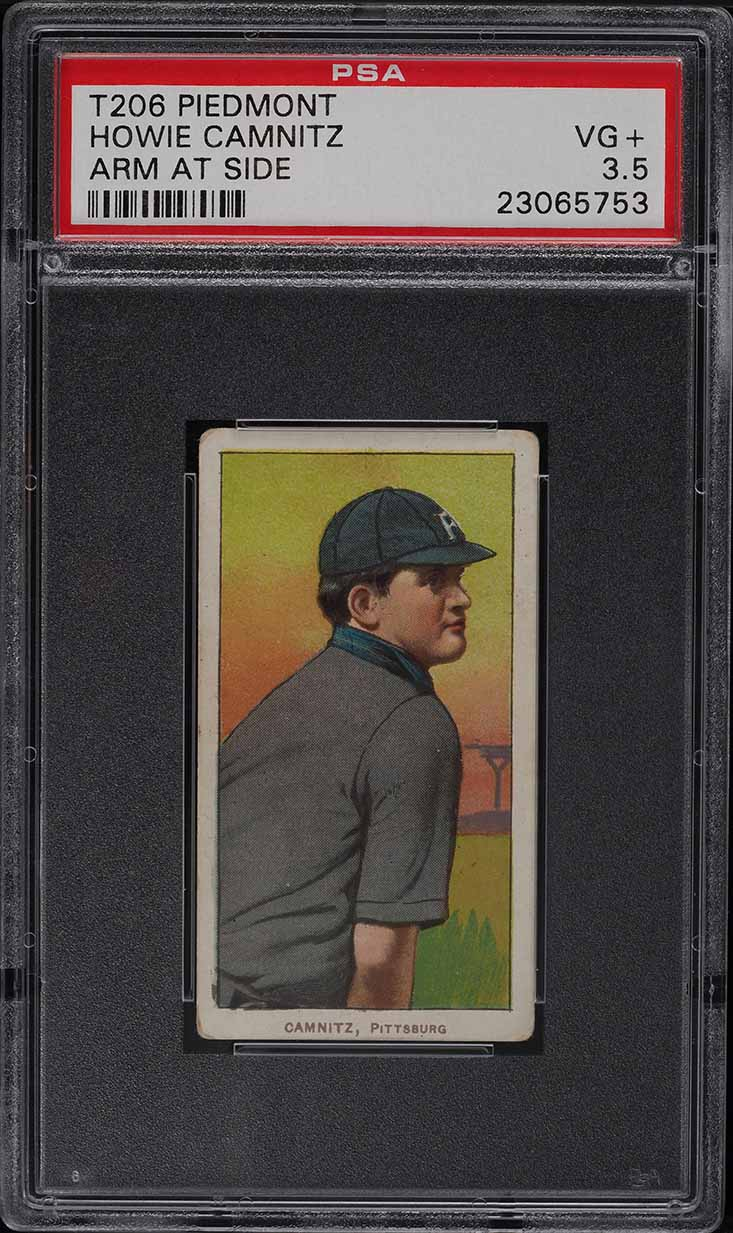 1909-11 T206 Howie Camnitz ARM AT SIDE PSA 3.5 VG+ - Image 1