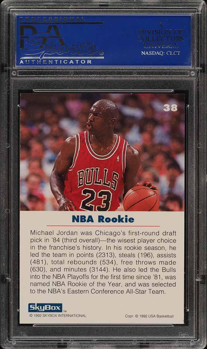 1992 Skybox USA Michael Jordan #38 PSA 10 GEM MINT (PWCC) - Image 2