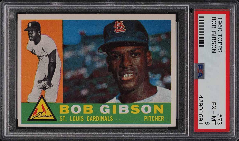 1960 Topps Bob Gibson #73 PSA 6 EXMT - Image 1